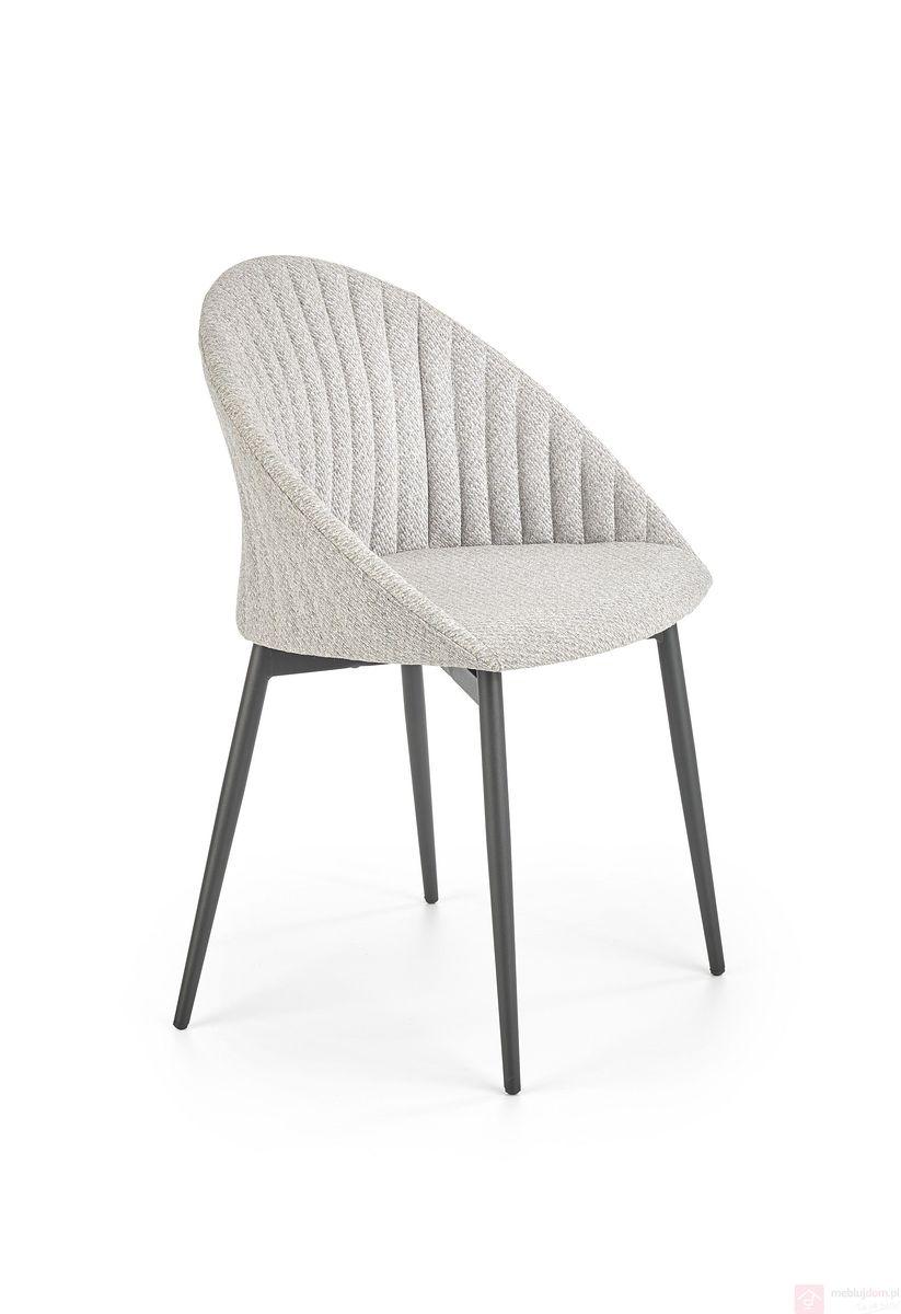 Krzesło K-357 Halmar jasny popielaty