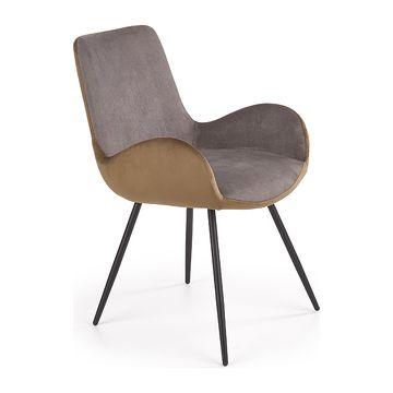 Krzesło K-392 Halmar popielato-brązowy