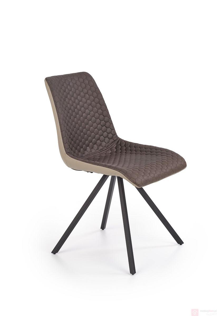 Krzesło K-394 Halmar beżowo brązowy