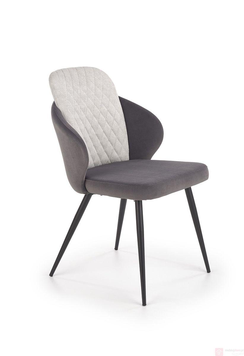 Krzesło K-408 Halmar ciemny popielaty