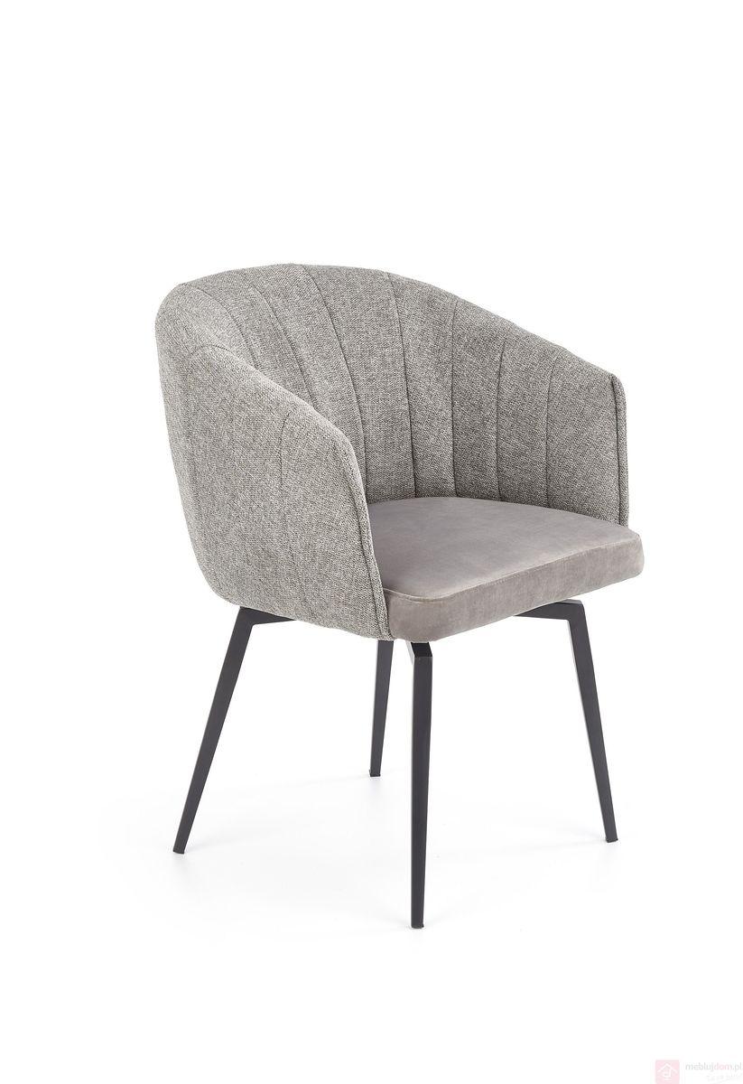 Krzesło K-378 Halmar popielaty