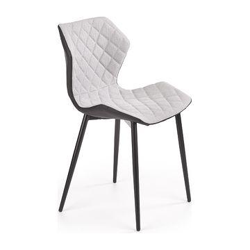 Krzesło K-389 Halmar jasny popielaty-czarny