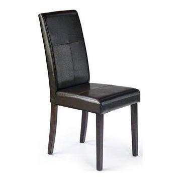 Krzesło KERRY BIS Halmar Wenge + ciemny brąz