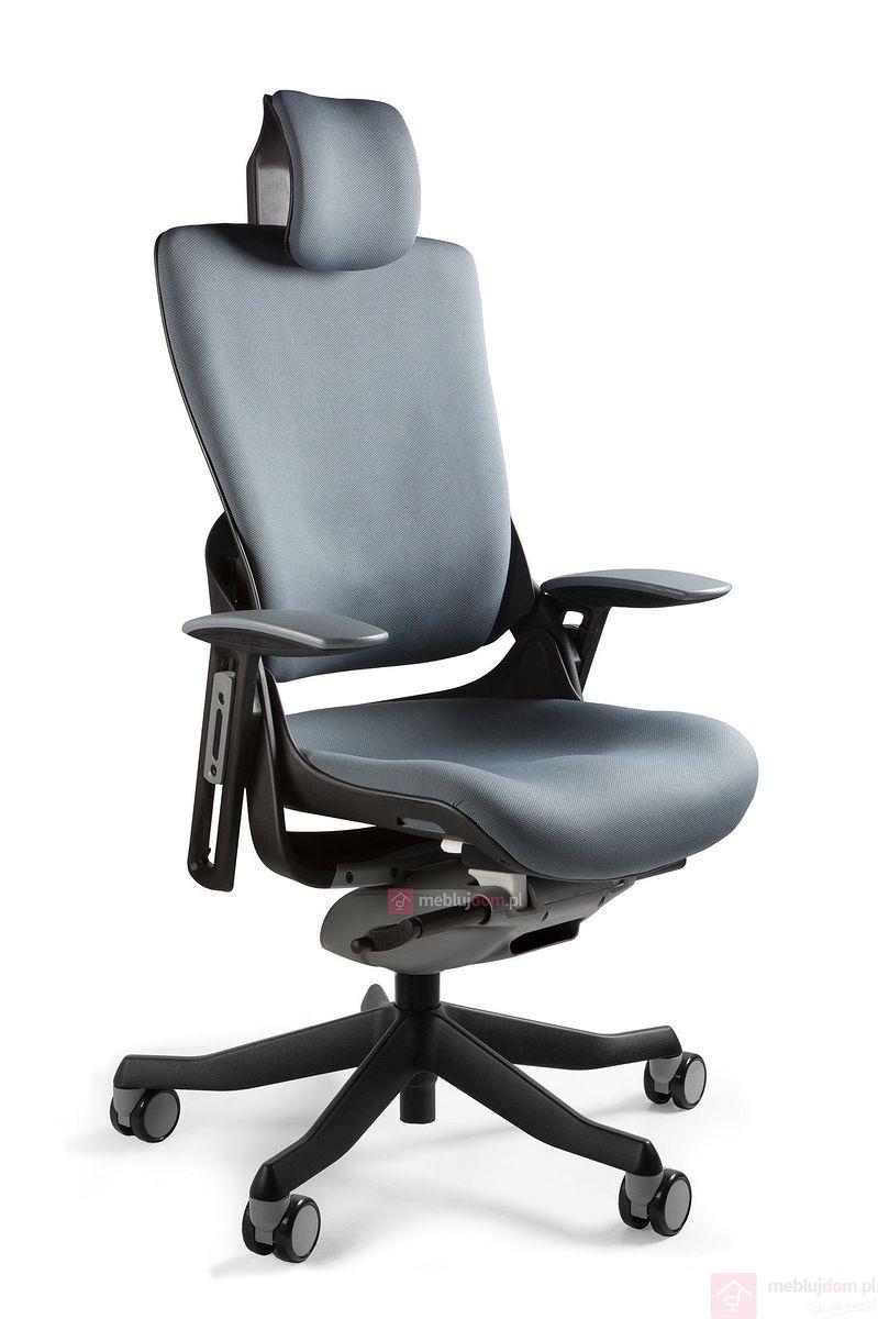 Fotel ergonomiczny WAU 2 Tkanina czarny BL417 SlateGrey