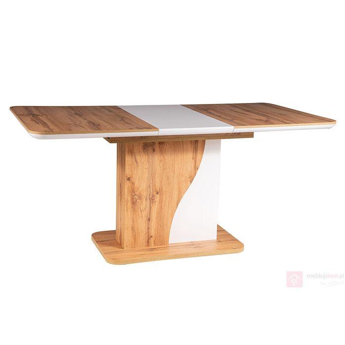 Stół SYRIUSZ Signal dąb wotan + biały
