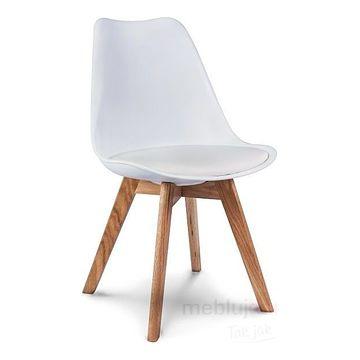 Krzesło KRIS Signal dębowe nóżki Biały