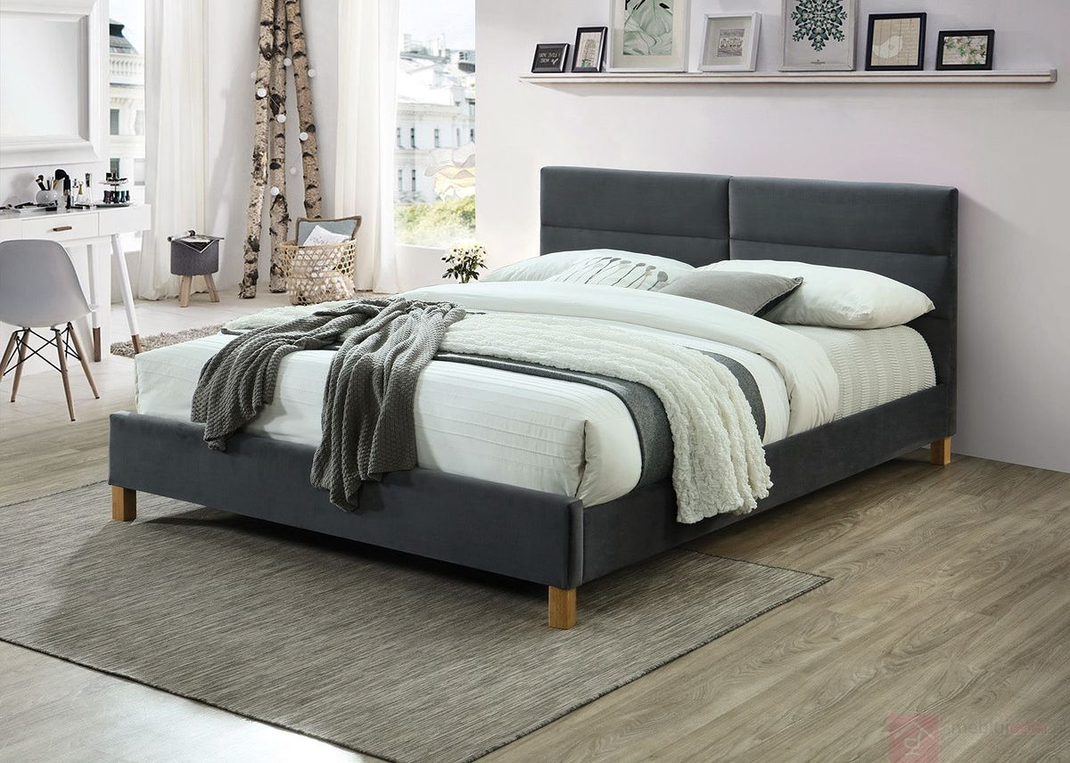 Łóżko SIERRA Velvet Signal szary