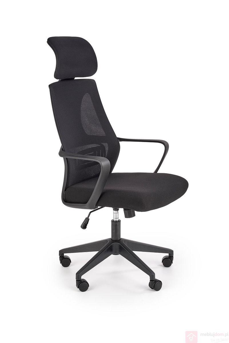 Fotel biurowy VALDEZ Halmar czarny z boku