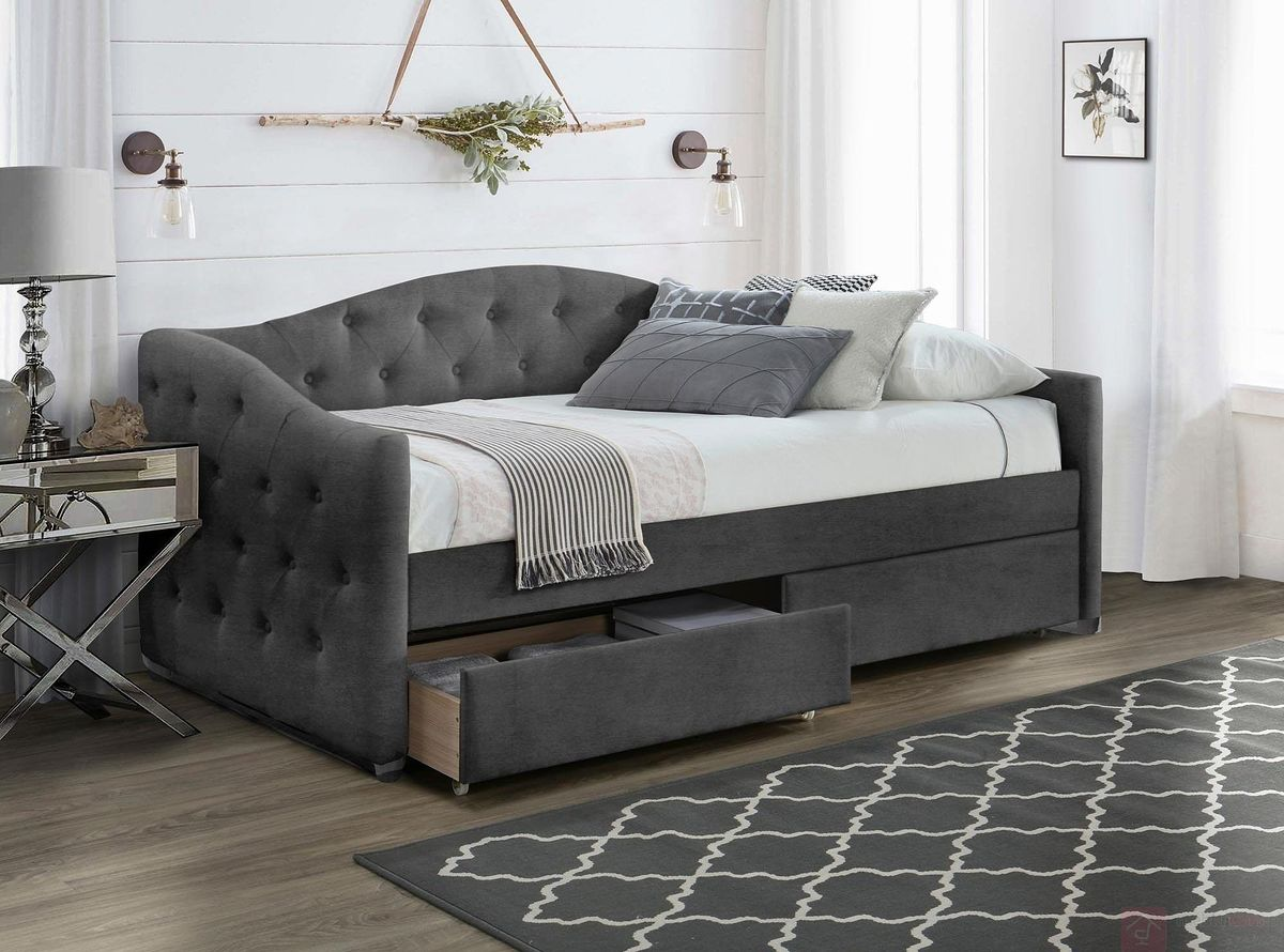 Łóżko ALOHA 90 Halmar popielaty