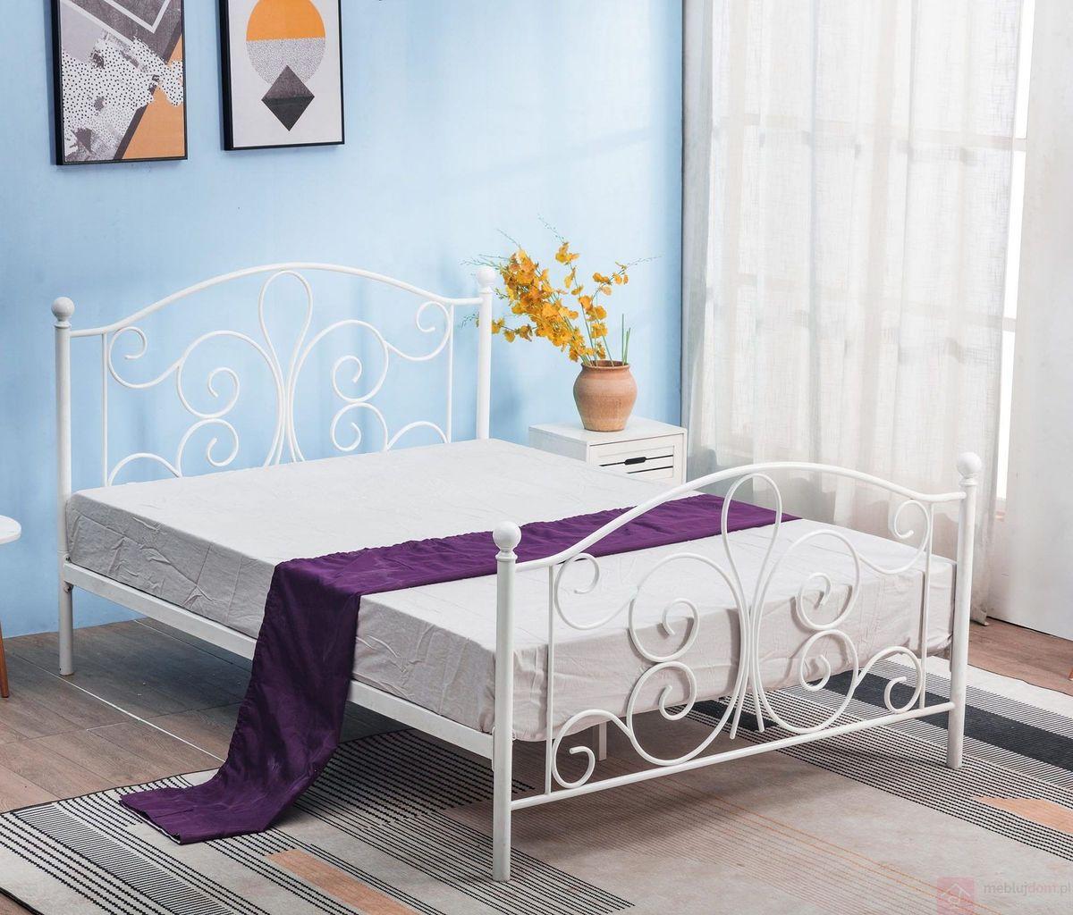 Łóżko PANAMA 120 Halmar białe metalowe