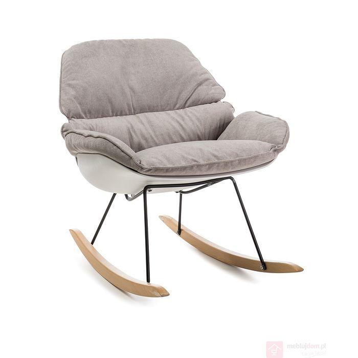 Fotel bujany ALZANO Signal biały + beżowy