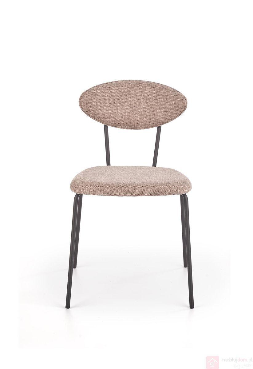 Krzesło K 310 Halmar metalowe z obiciem orzechowym w stylu