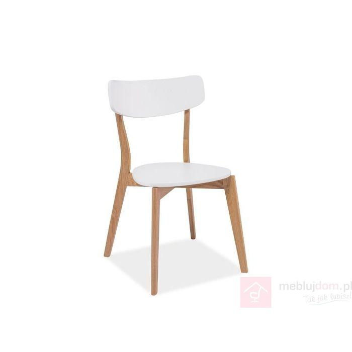 Krzesło MOSSO Signal Dąb naturalny + biały