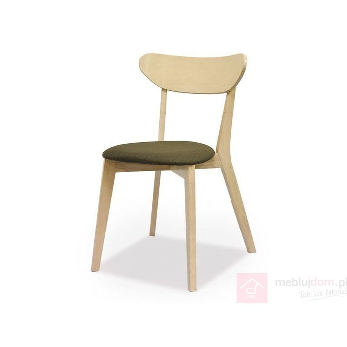 Krzesło NARVIK Signal Dąb bielony + szary
