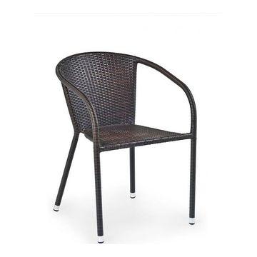 Krzesło ogrodowe MIDAS Halmar Ciemny brąz