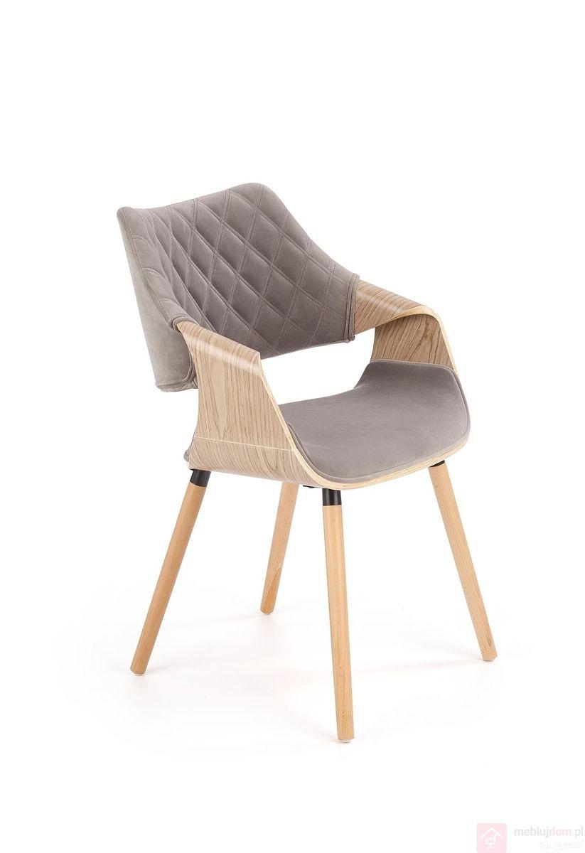 Krzesło tapicerowane K-396 Halmar popiel