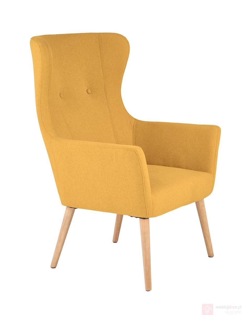 Fotel COTTO Halmar (musztardowy)