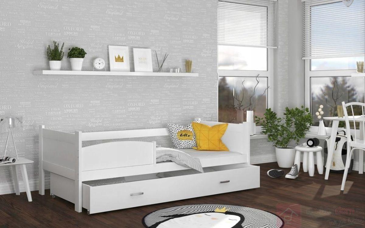 Łóżko parterowe z szufladą TWISTER