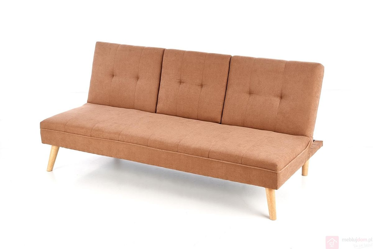 Sofa rozkładana BACON Halmar beżowy złożona