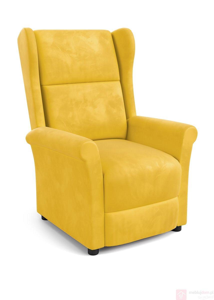 Fotel wypoczynkowy AGUSTIN 2 Halmar MUSZTARDOWY