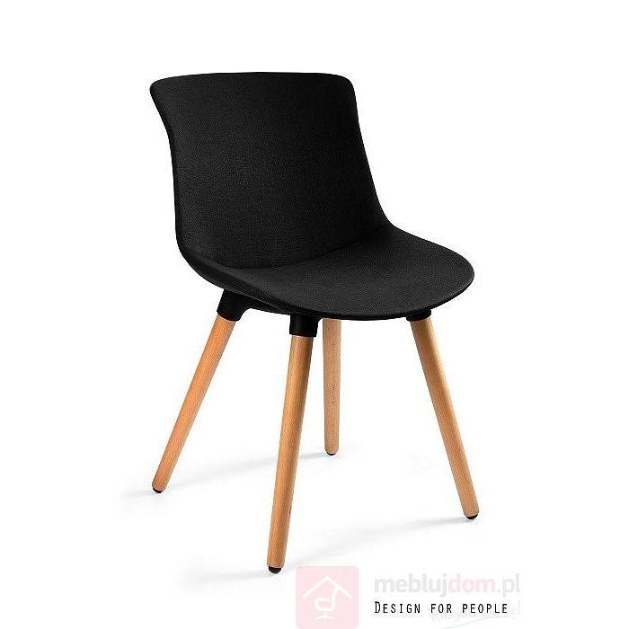 Krzesło tapicerowane EASY MR Unique Czarne