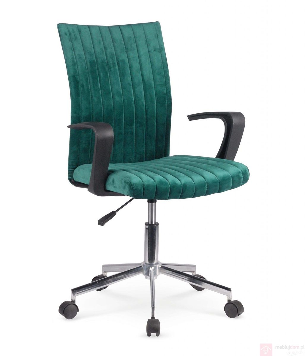 Fotel obrotowy DORAL Halmar ciemna zieleń front