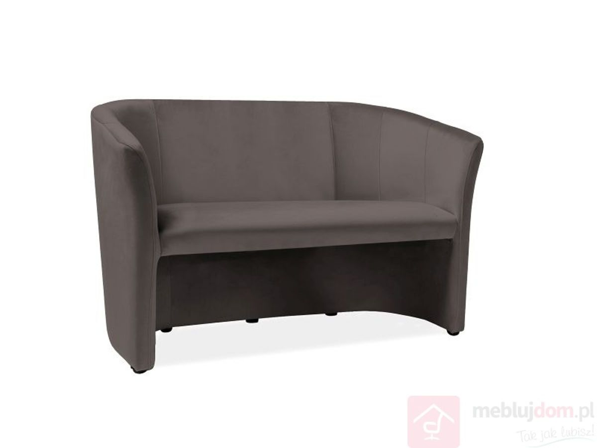 Sofa klubowa TM-2 Velvet Signal szary