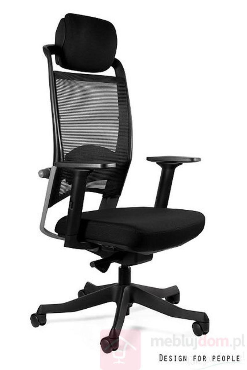Fotel FULKRUM Unique czarny tkanina