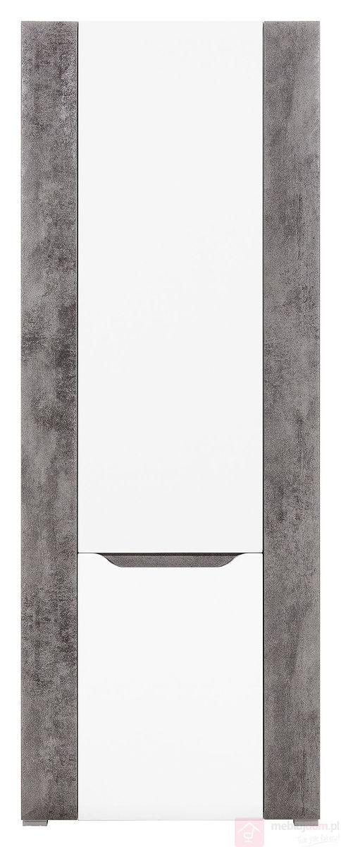 Regał BRANDO B6 L/P Biały połysk + szarość