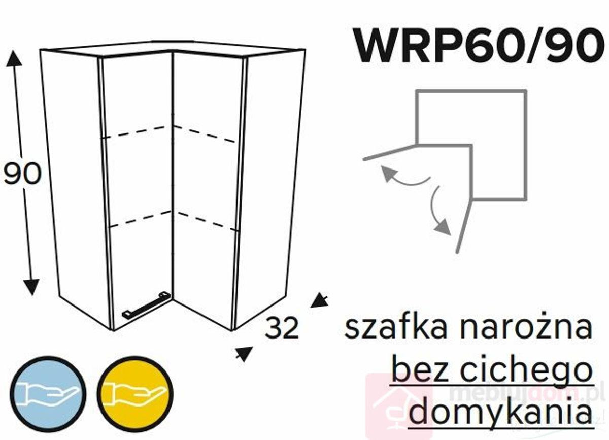 Szafka wisząca KAMMONO BLACK WRP60 90 narożna