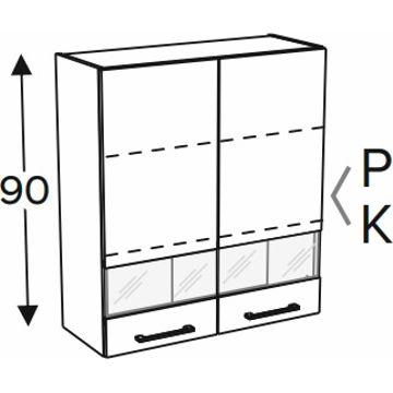 Szafka wisząca KAMMONO BLACK WW80 90