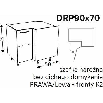 Szafka KAMMONO DRP90x70 narożna