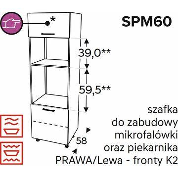 Szafka KAMMONO SPM 60 do zabudowy mikrofalówki i piekarnika