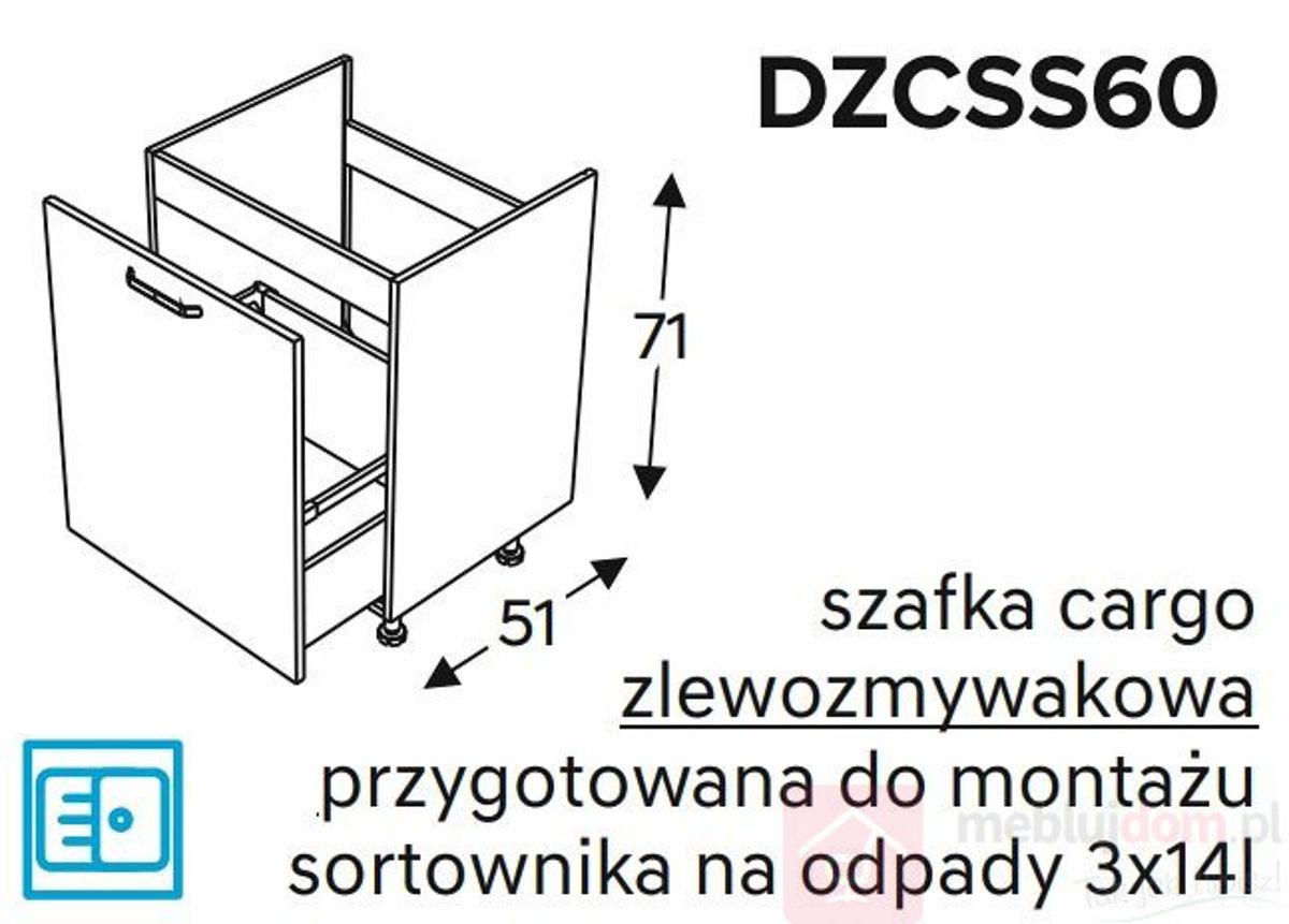 Szafka dolna KAMMONO DZCSS60 zlewozmywakowa