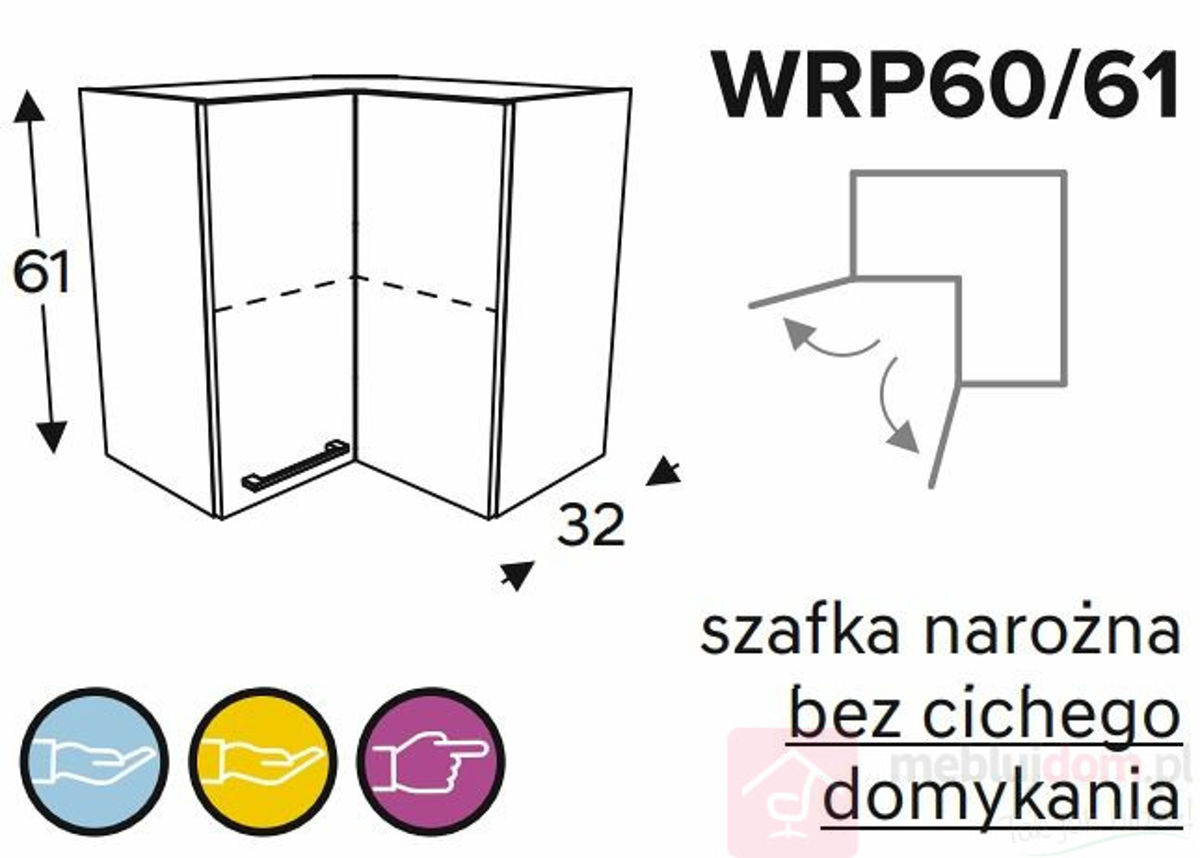 Szafka górna KAMMONO WRP60 61 szafka narożna