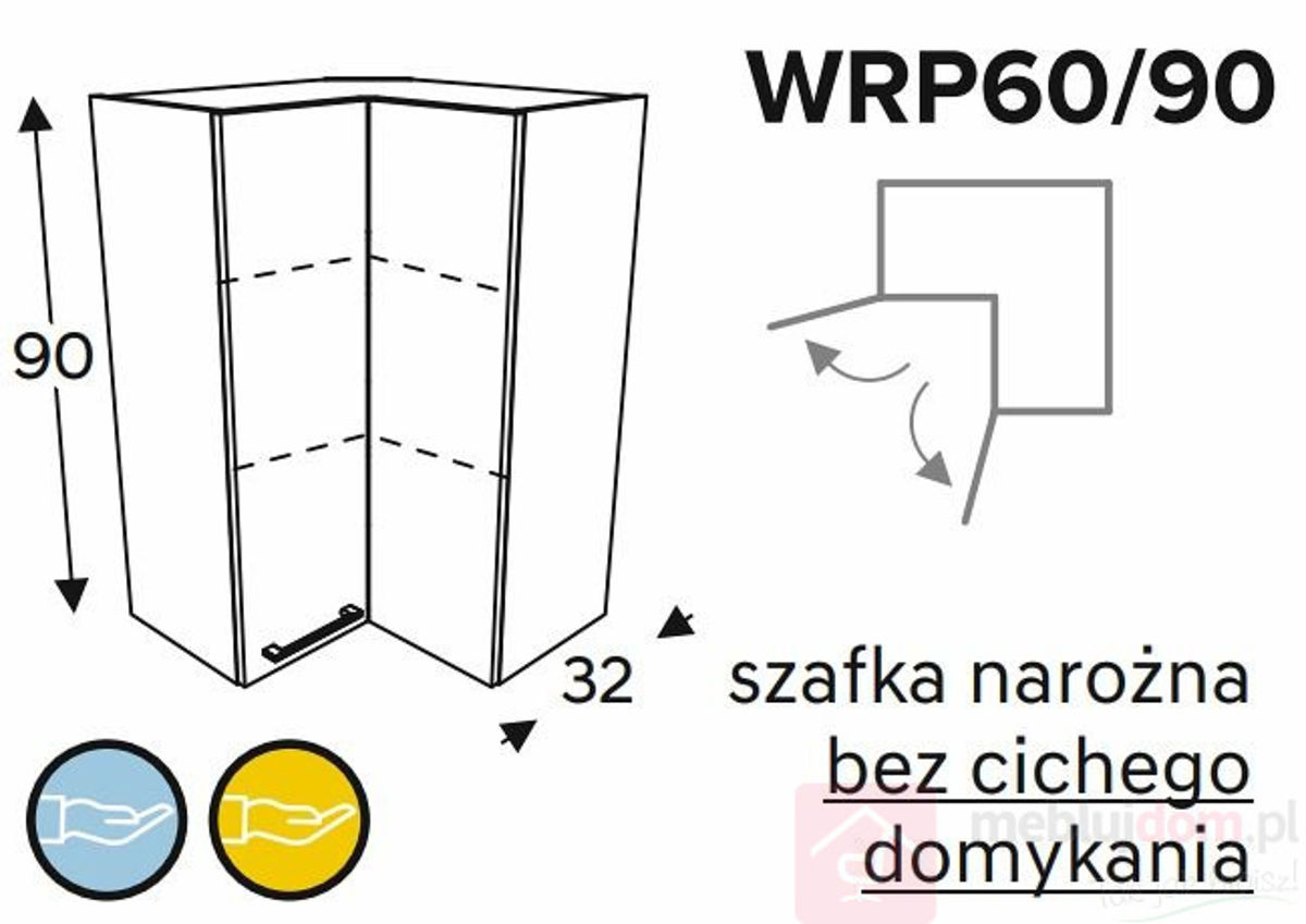 Szafka górna KAMMONO WRP60 90 szafka narożna