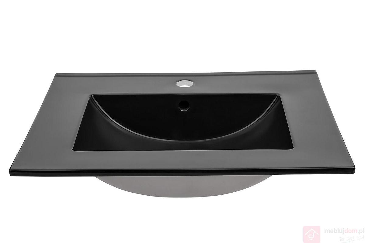 Umywalka ceramiczna LAVA BLACK 60 cm