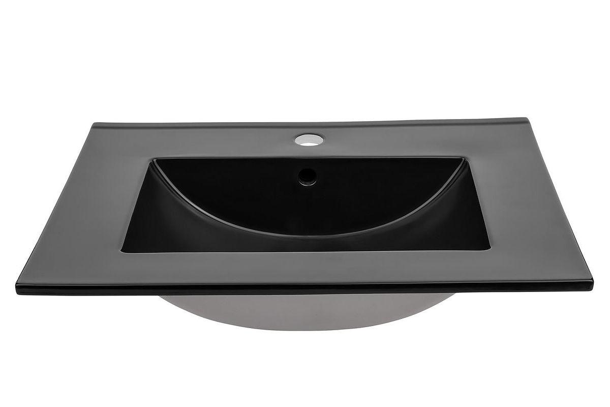 Umywalka ceramiczna LAVA BLACK 80 cm