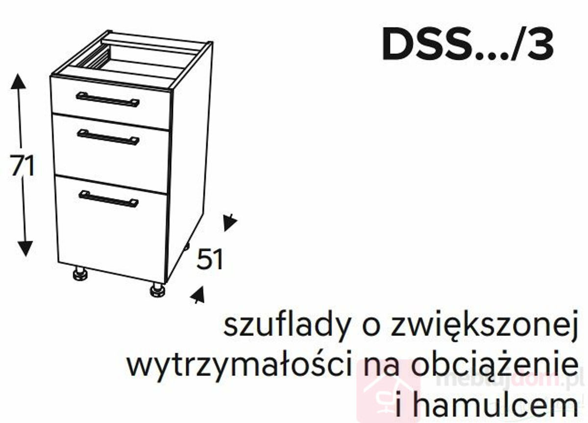 Szafka dolna KAMMONO CLASSIC DSS3