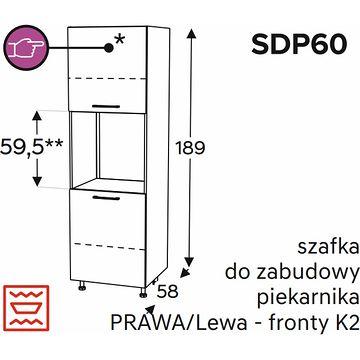 Szafka dolna KAMMONO CLASSIC SDP60