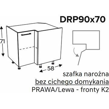 Szafka dolna KAMMONO CLASSIC DRP90x70 narożna