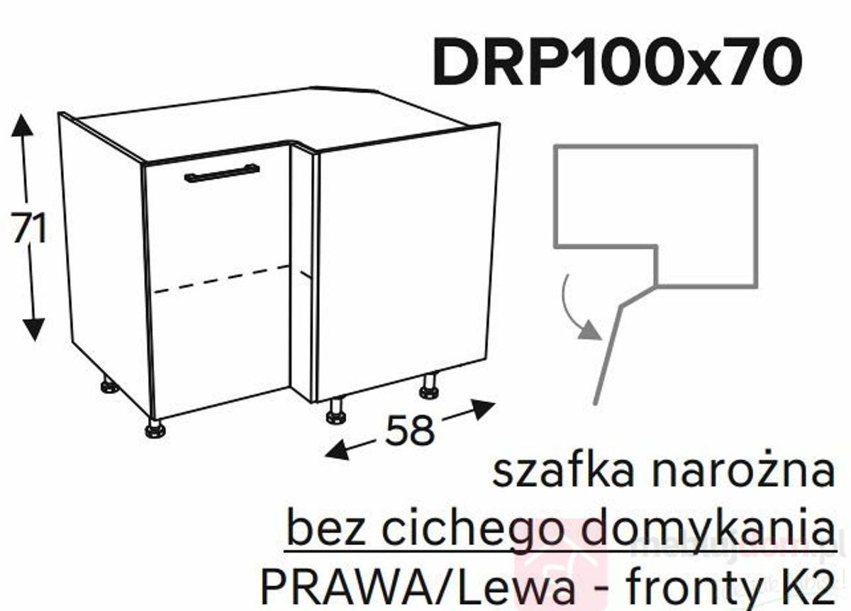 Szafka dolna KAMMONO CLASSIC DRP100x70 narożna