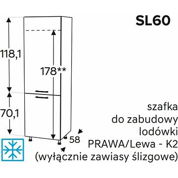 Szafka dolna KAMMONO CLASSIC SL60