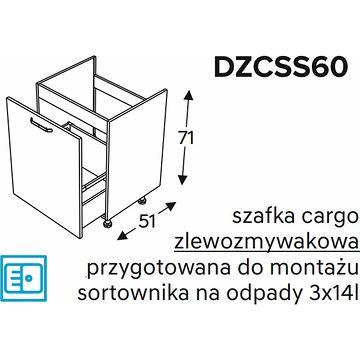 Szafka dolna KAMMONO CLASSIC DZCSS60