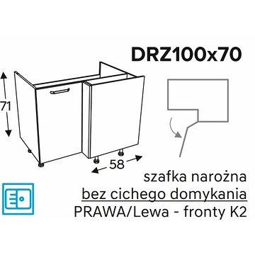 Szafka dolna KAMMONO CLASSIC DRZ100x70