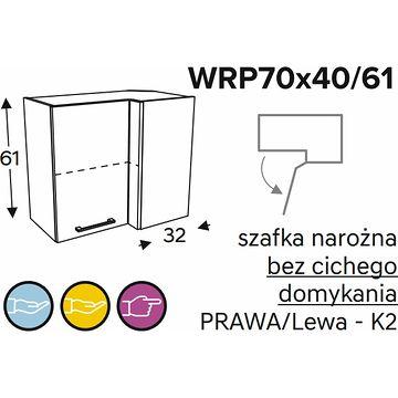 Szafka górna KAMMONO CLASSIC WRP70x40 61 narożna