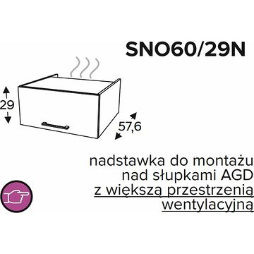 Szafka górna KAMMONO CLASSIC SNO60 29N