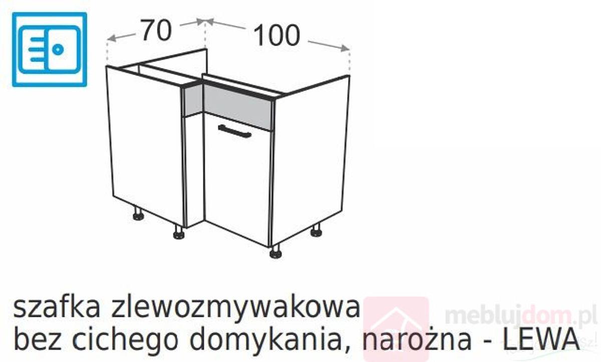 Szafka dolna narożna DML DRZ100x70 Zlewozmywakowa Lewa