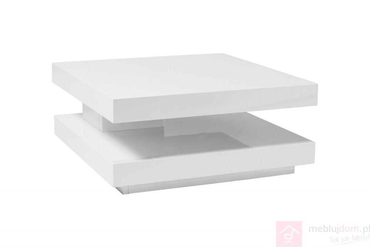 Ława FALON Signal Biały połysk, 75x75-105 cm