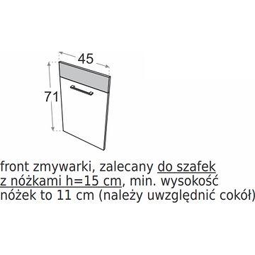 Front do zmywarki DML FZMYW45